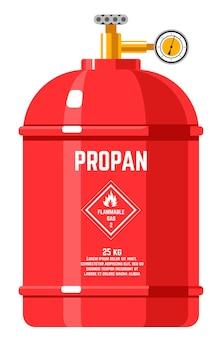Propaan ontvlambare energie in tank met druk