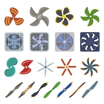 Propeller fan illustratie.