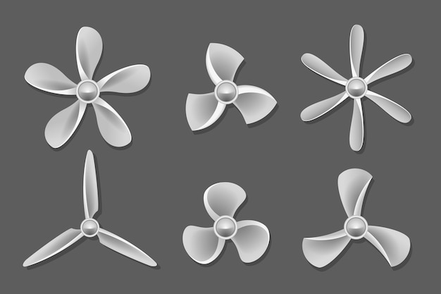 Propeller iconen vector. propeller lucht, ventilator propeller, ventilator en blad, apparatuur propeller ventilator illustratie