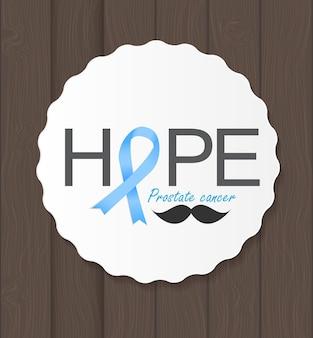 Prostaatkanker bewustzijn blauw lint vectorillustratie eps10