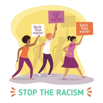 Protest tegen racisme
