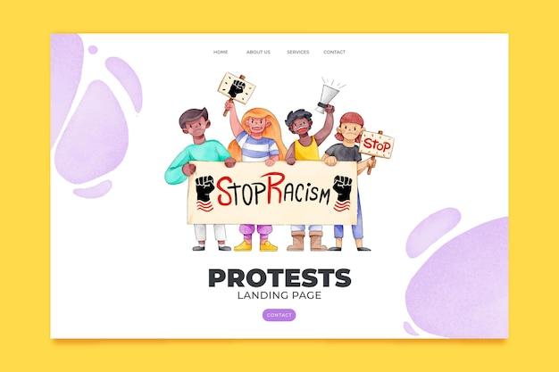 Protestaanval stopt racisme-bestemmingspagina