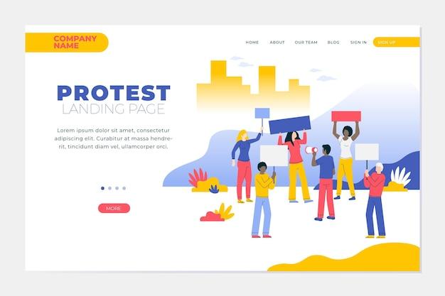 Proteststaking - bestemmingspagina