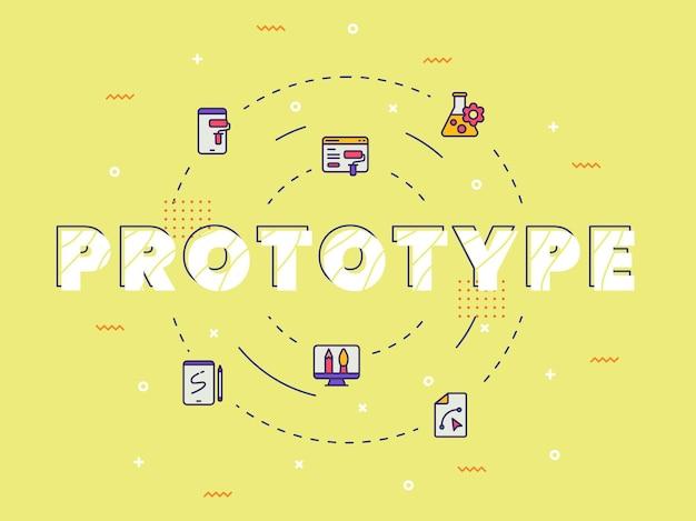 Prototype typografie kalligrafie woordkunst