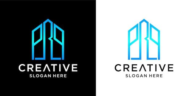 Prp huis logo ontwerp