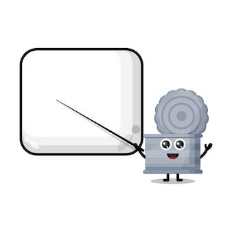 Prullenbak kan een schattige mascotte van een leraar worden