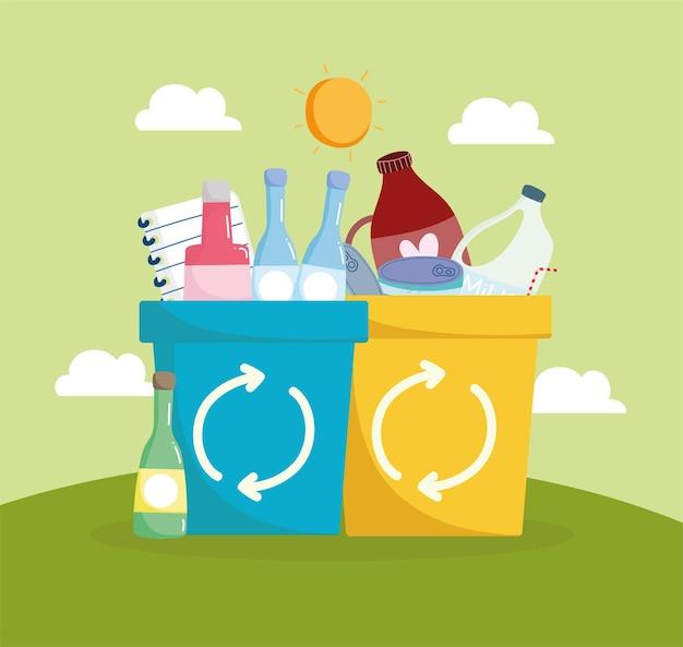 Prullenbakken recyclen