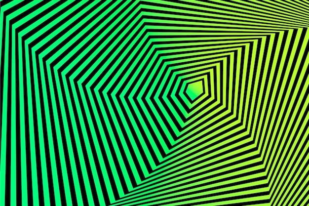 Psychedelisch behang met optische illusie