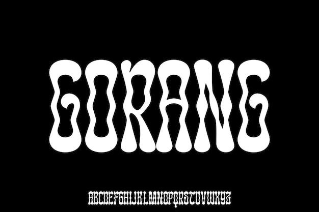 Psychedelisch vetgedrukt lettertype voor poster en kopregel