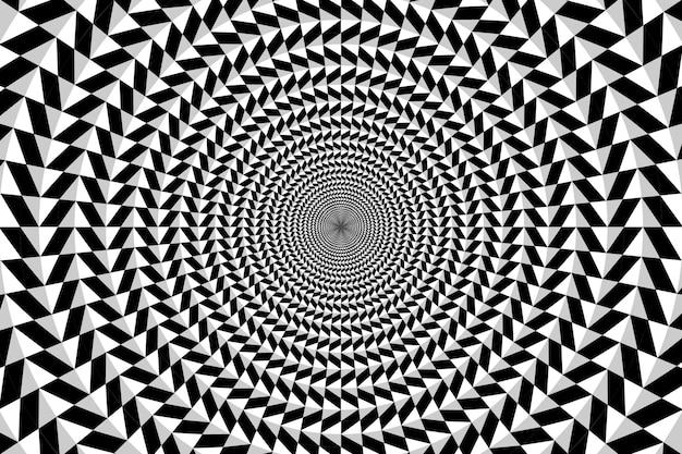 Psychedelische achtergrond met veelhoekige vormen