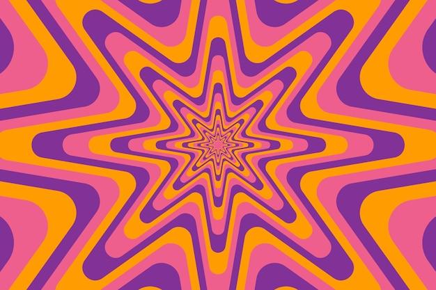 Psychedelische groovy achtergrond met abstracte vormen