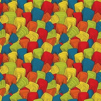 Psychedelische naadloze illustratie in plat ontwerp