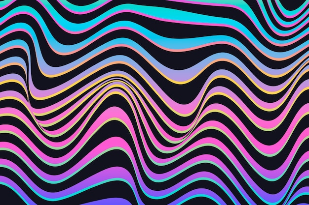 Psychedelische optische illusie achtergrondontwerp