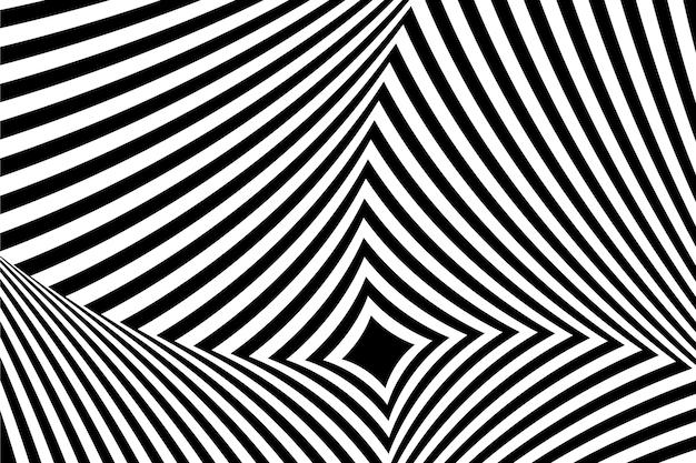 Psychedelische optische illusie achtergrondstijl