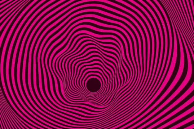 Psychedelische vervormde roze en zwarte achtergrond