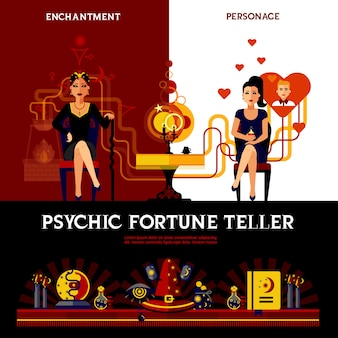 Psychic fortune teller concept