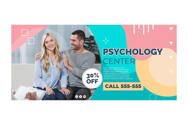 Psychologie banner sjabloon thema