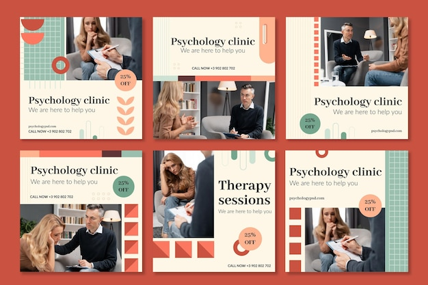 Psychologie instagram posts collectie