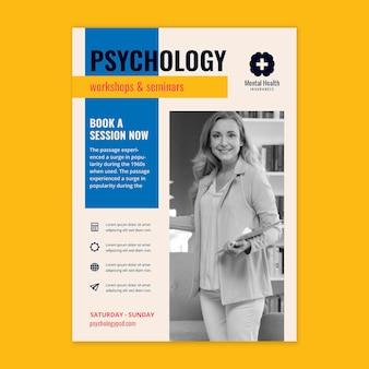 Psychologie poster sjabloon