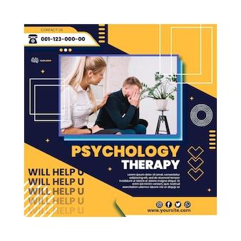 Psychologie therapie kwadraat flyer-sjabloon