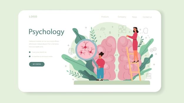 Psychologie webbanner of bestemmingspagina