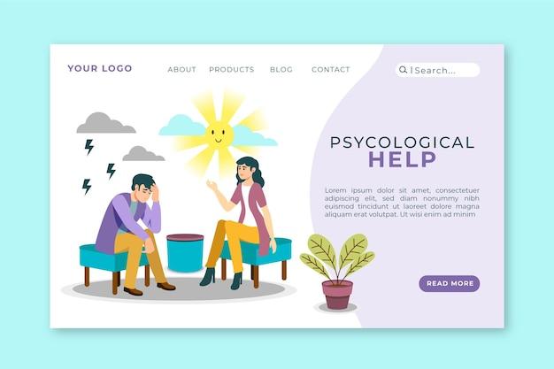 Psychologische hulp - bestemmingspagina