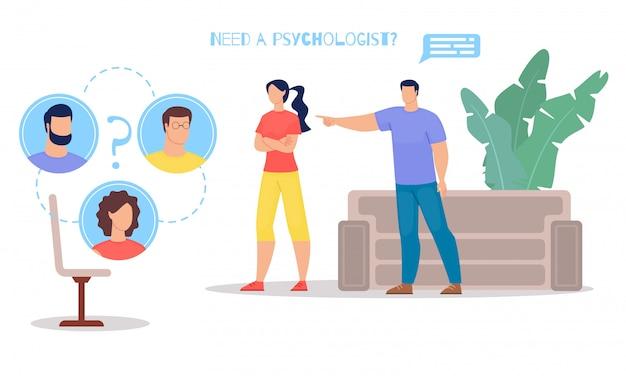 Psychologische hulp voor stellen vlak