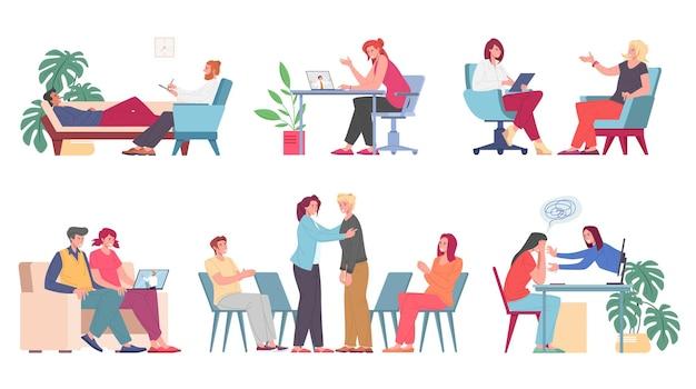Psychologische ondersteuning online mooie illustratie