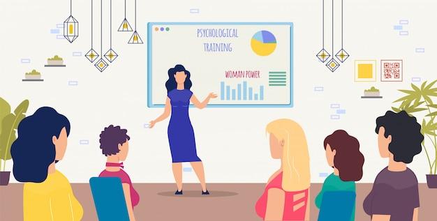 Psychologische training voor vrouwen vector concept