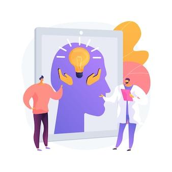 Psychologische veiligheid abstract concept vectorillustratie. druk uzelf uit, negatieve gevolgen, status, carrière en reputatie, veiligheid van werknemers, sociale angst, abstracte metafoor voor comfort.