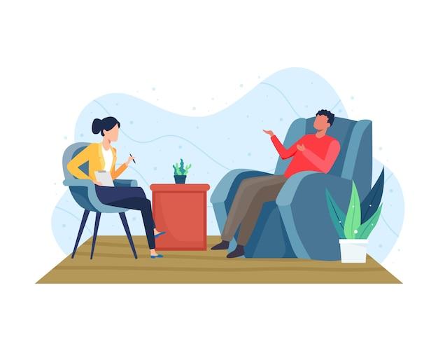 Psychotherapie begeleiding concept