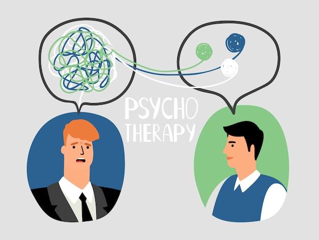 Psychotherapie concept illustratie