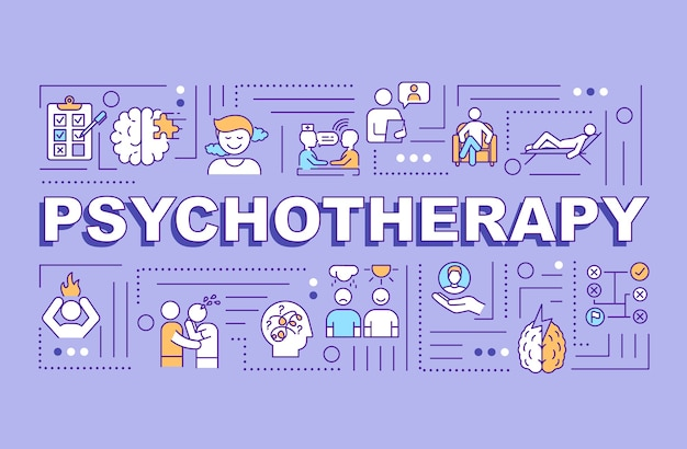 Psychotherapie woord concepten banner