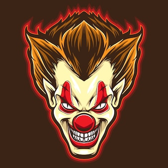 Psyco clown vector