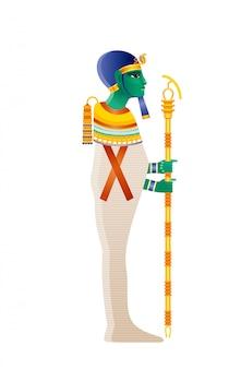 Ptah egyptische god, demiurg van memphis, schepper-godheid. oude egyptische godsillustratie.