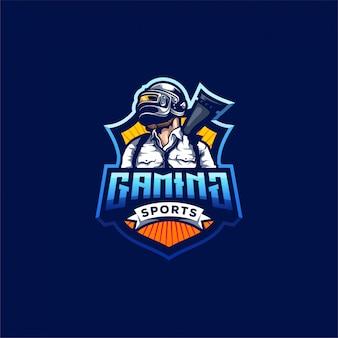 Pubg gaming logo ontwerp