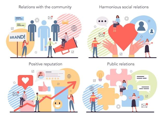 Public relations concept ingesteld