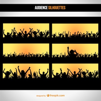 Publiek silhouet set