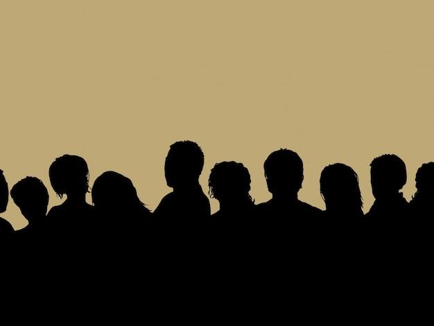 Publiek silhouet
