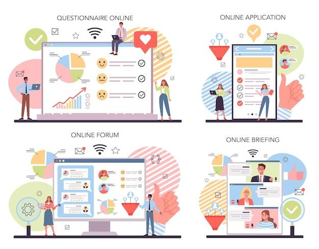 Publieke opinie over de online dienst van de website of het platform
