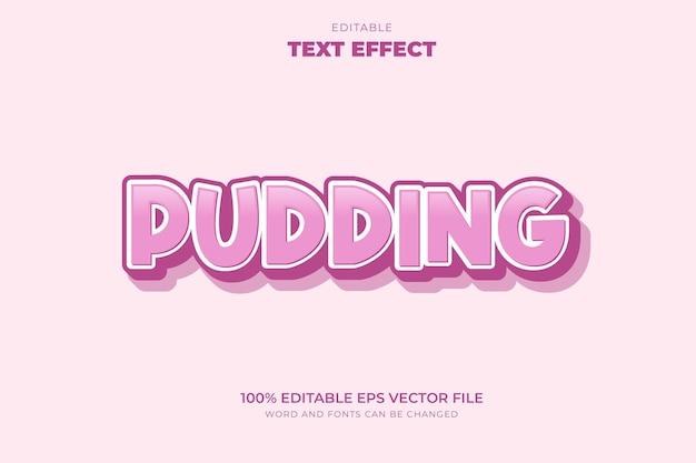Pudding-teksteffect
