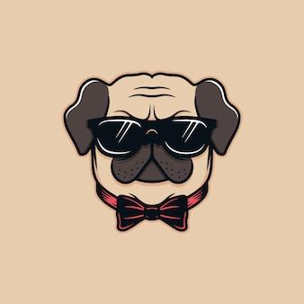 Pug dog illustratie