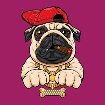 Pug hip hop-stijl