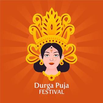 Puja festival illustratie