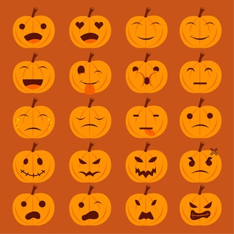 Pumkin emoticons-collectie