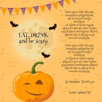 Pumpkin halloween-kaart.