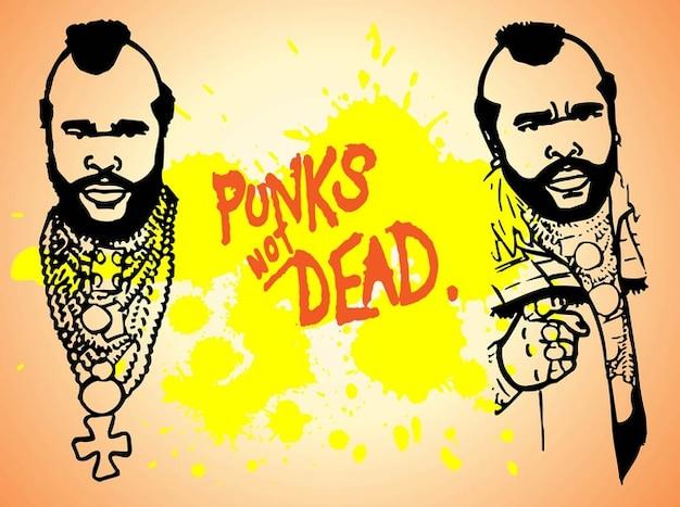 Punk man grappige mensen vector