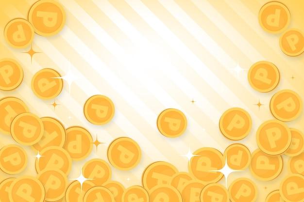 Punt munten achtergrond
