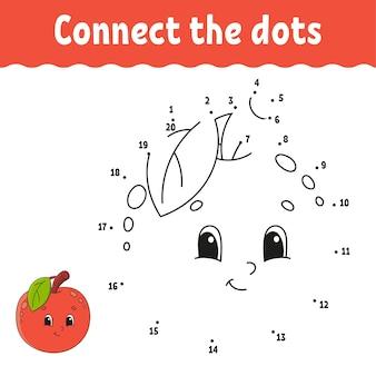 Punt om spel te stippelen. teken een lijn. voor kinderen. activiteit werkblad.