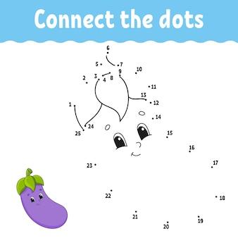 Punt om spel te stippelen. teken een lijn. voor kinderen. activiteit werkblad. Premium Vector